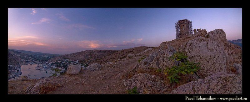 море, бухта, лодки, пейзаж, панорама, балаклава, севастополь, закат, чембало photo preview