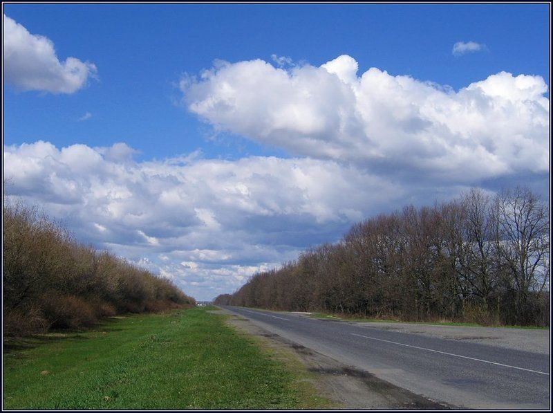 ранняя весна, украина, лубны, дорога, облака По дороге с облаками...photo preview