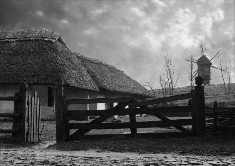 мельница, ветряк, небо, хутор, пирогово, киев, украина Под старину...photo preview