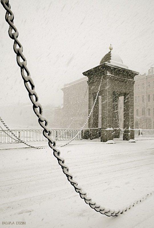 питер, снегопад, фонтанка, зима Вне времениphoto preview