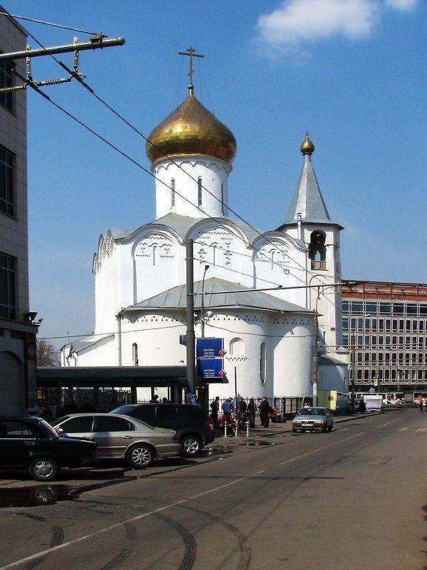 храм никольский старообрядческий Никольский старообрядческий храм на площади у Белорусского вокзала. Москва.(2)photo preview