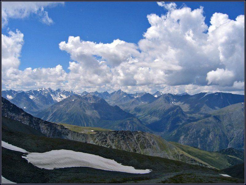 алтай, горы, снег, облака, перевал Снег и облака №2photo preview