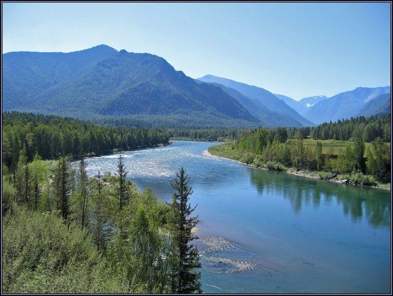 алтай, горы, река, катунь Катуньphoto preview