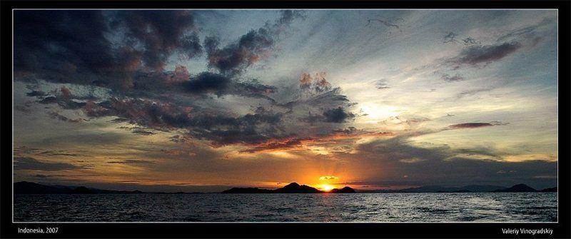 океан острова закат солнце вечер горы Пока... увидимся завтра...photo preview