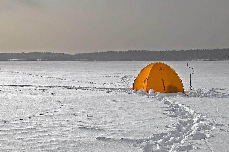 рыбалка, зима Морозноphoto preview