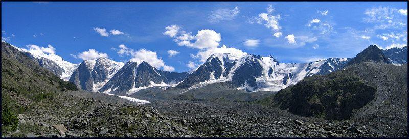алтай, горы, камни, ледник, облака Вершины, покрытые льдом... №2photo preview