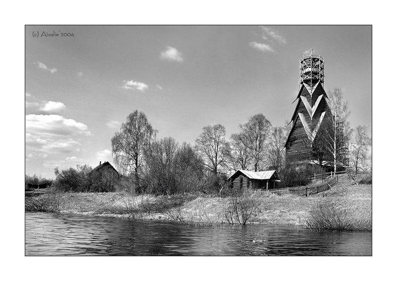 церковь, озеро, вода, небо Ширковоphoto preview