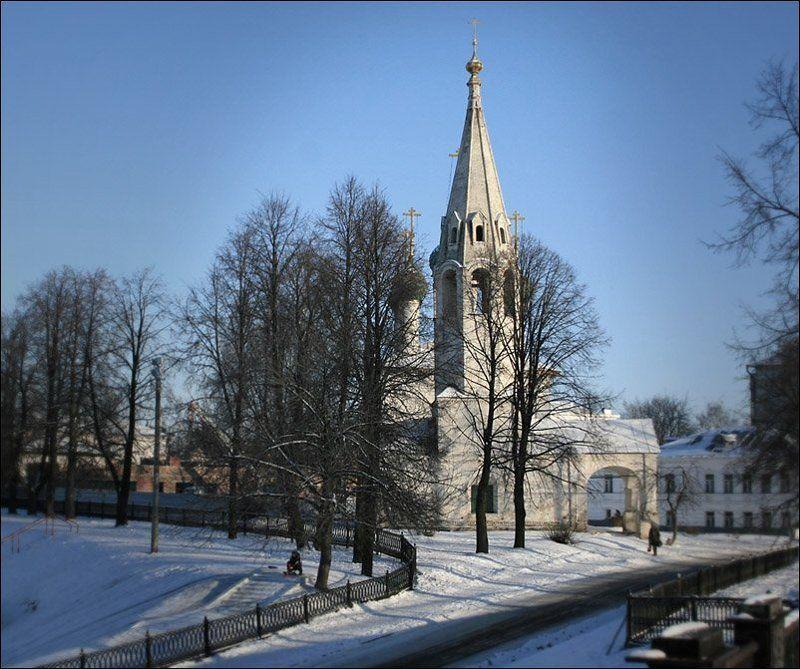ярославль, храм, собор, зима, город * * *photo preview