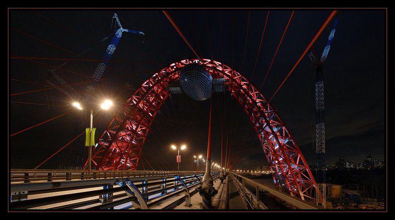 москва, ночь, мост, живописный Новогодний подарок москвичамphoto preview