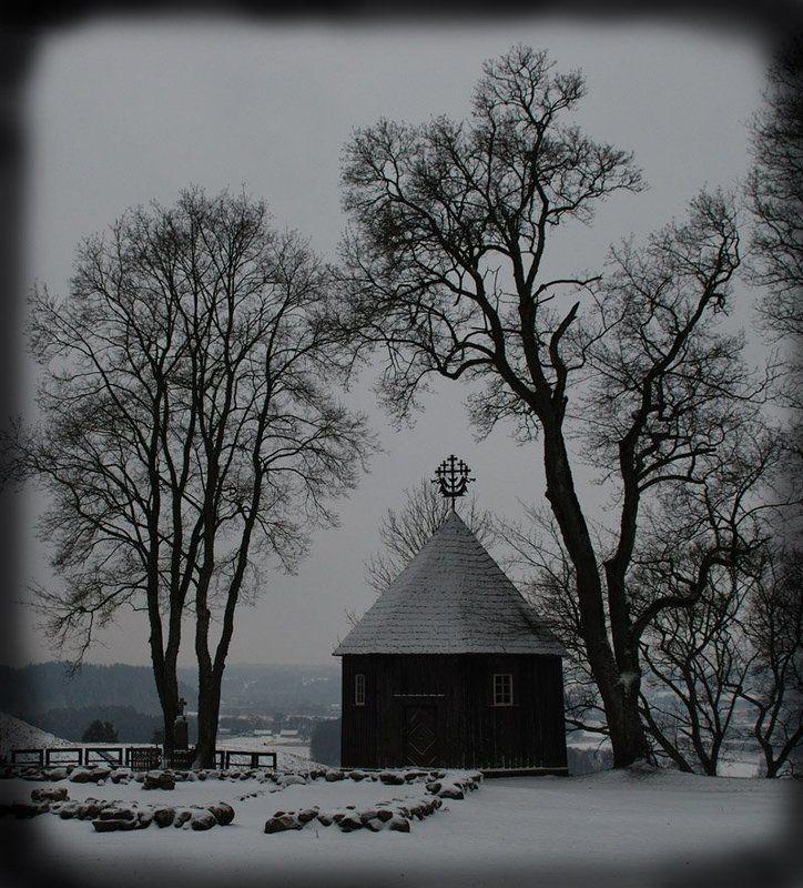 кернаве, часовня, зима, клепа В Балтийских широтах...photo preview