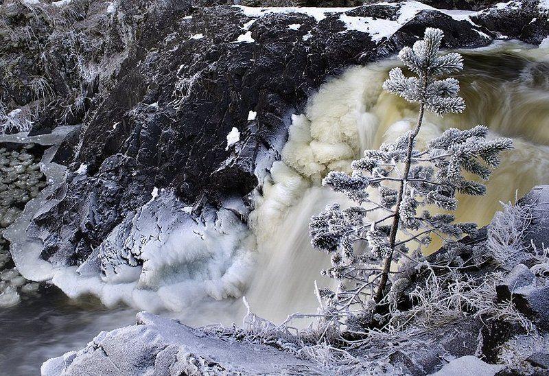 кивач, карелия, водопад, зима Кивачphoto preview