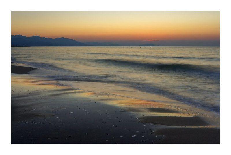 море, закат, сицилия, италияб чефалу, коза, с, носторой Морской этюд в пастельных тонахphoto preview