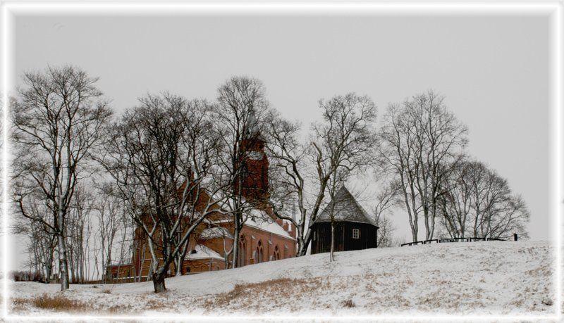 кярнаве, зима, замковые горы, клепа Зимняя графика...photo preview
