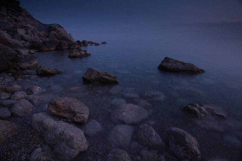 море, мыс, камни, скалы, крым, ночь photo preview