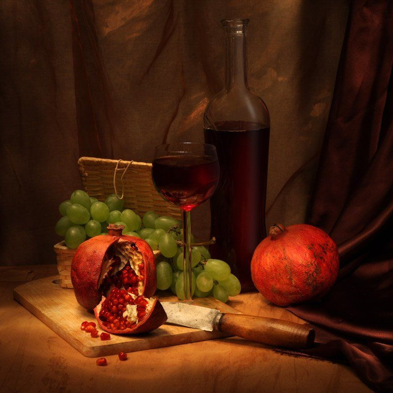 pomegranate, wine, grape photo preview