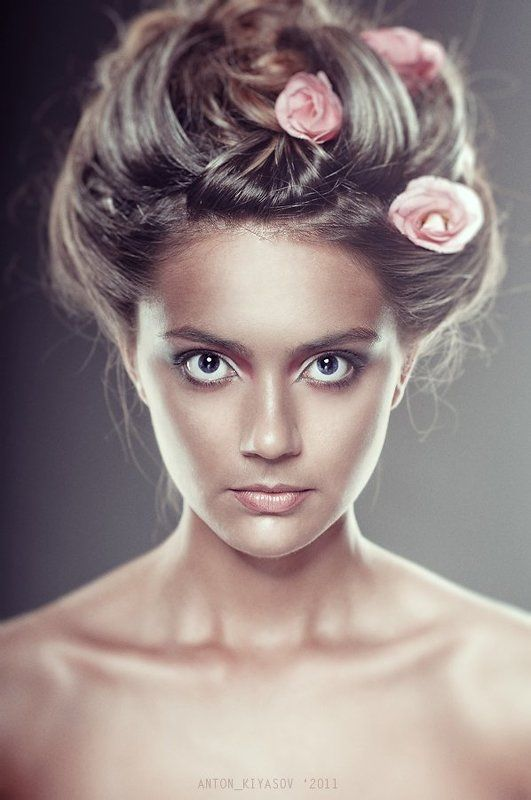 дикая, роза, девушка, портрет, гламур photo preview