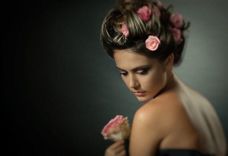 роза, девушка, портрет photo preview
