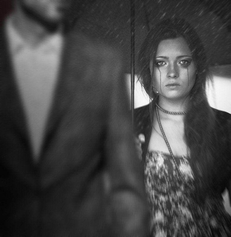девушка, девушки, дождь, дожди, слеза, слёзы, портрет, портреты, владимир, шипулин photo preview