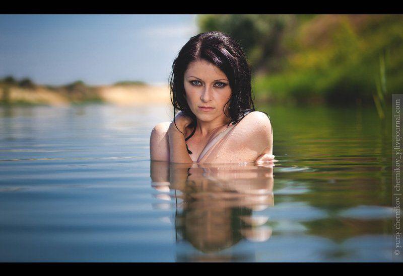 вода, лето, модель, портрет photo preview