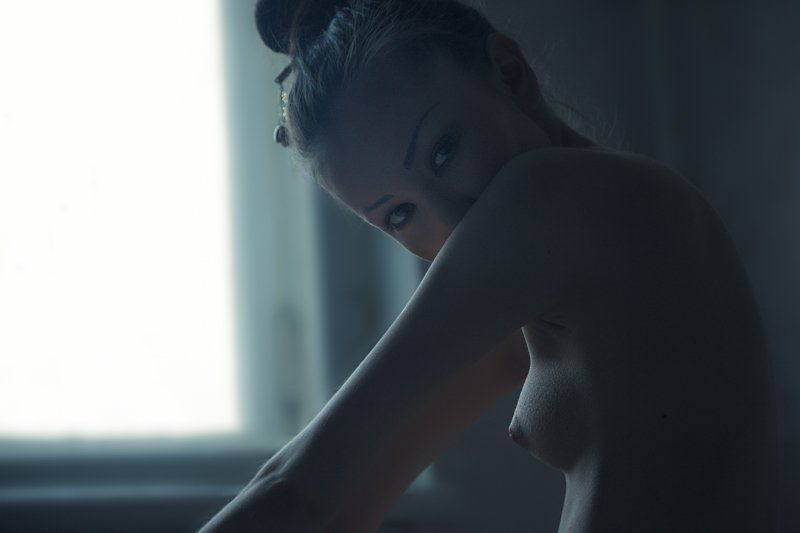 indoors, morning, kyoto, woman, naked, erotica, nude Утро девушки с Киотоphoto preview