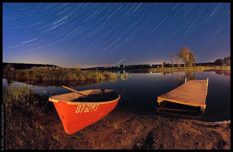 звезды, небо, треки звезд photo preview