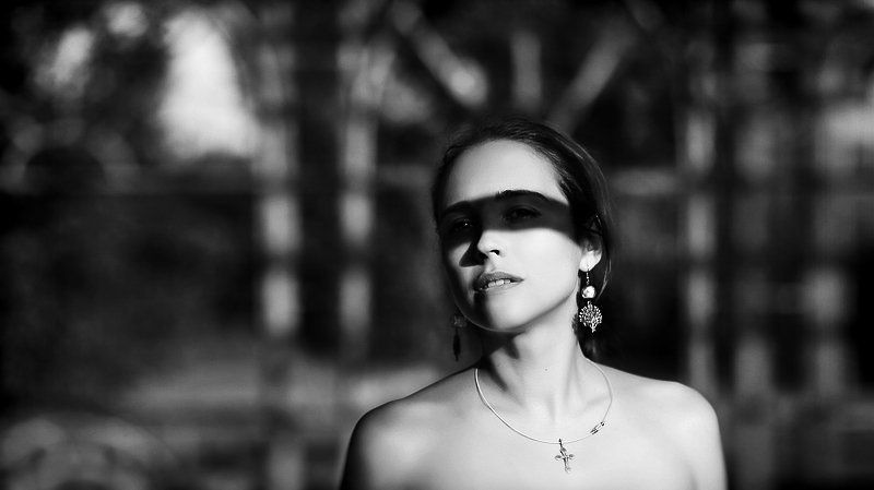 портрет, фото, девушка, маска, тень photo preview