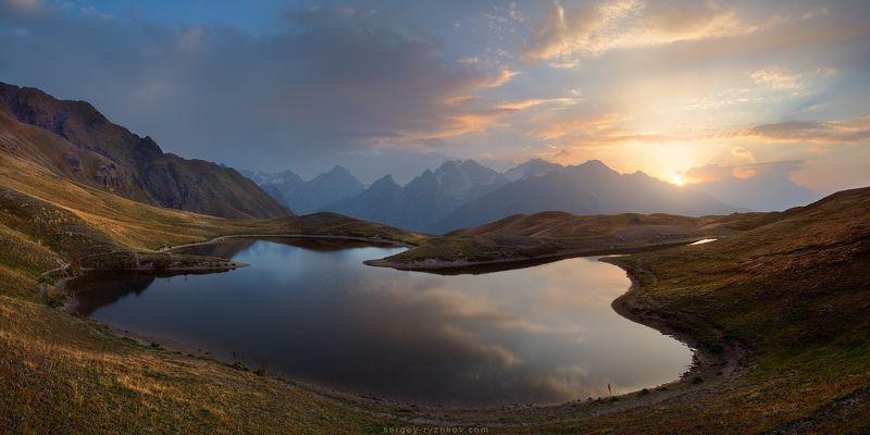 корульди, кавказ, грузия, горы, пейзаж, природа, caucasus, georgia, mountains, landscape, Рассвет на озерах Корульдиphoto preview