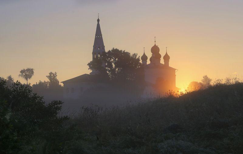 осенево, ярославская область, храм, рассвет, православие В рассветный часphoto preview