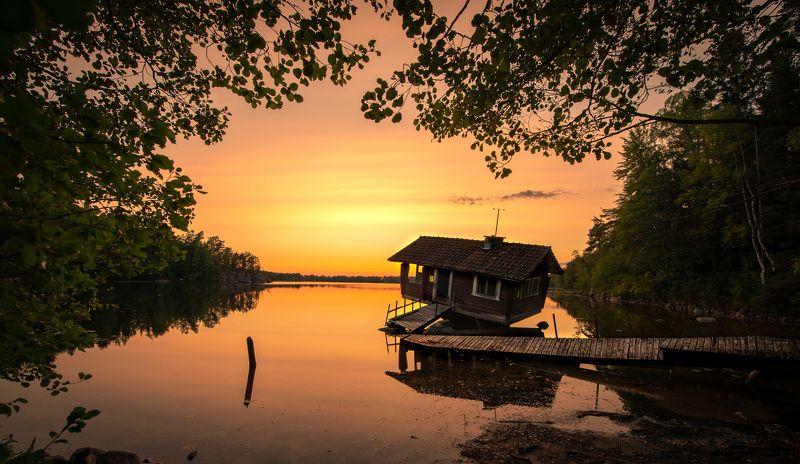 lake, finland, sauna, sunset Drunken sauna фото превью