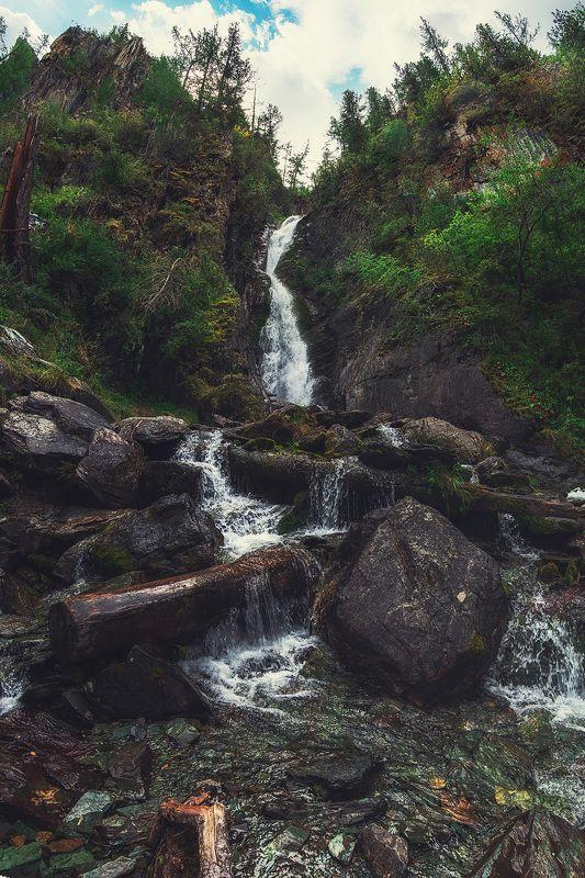 алтай, уларскийводопад, курай Малый Уларский водопад. Республика Алтай.photo preview