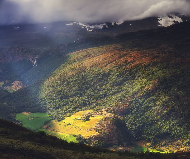 норвегия, лето, горы, панорама, ютунхеймен Свет над Ютунхейменомphoto preview