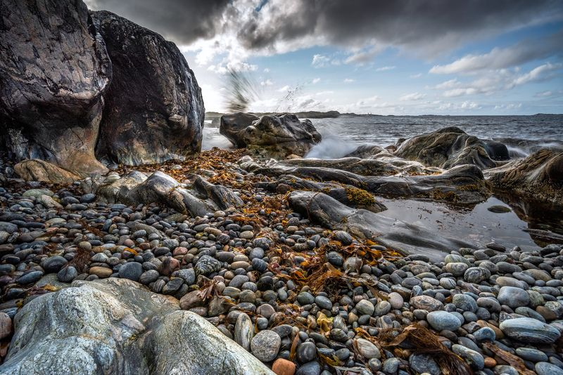 nisi filers, seascape, landscape, nature, stones, sunset, nikon, beach, norway, splash, long exposure Splashphoto preview
