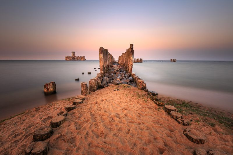 longexposure, sunrise,sunset,sea, Torpedowniaphoto preview