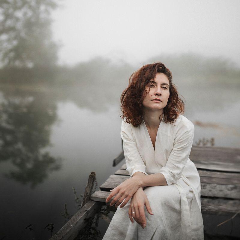 девушка портрет утро туман Анастасияphoto preview
