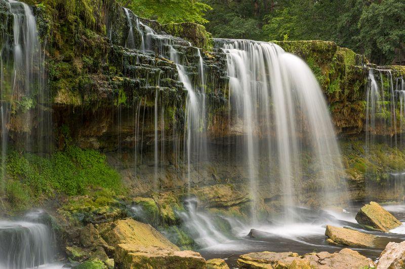 водопад, эстония, пейзаж молочные рекиphoto preview