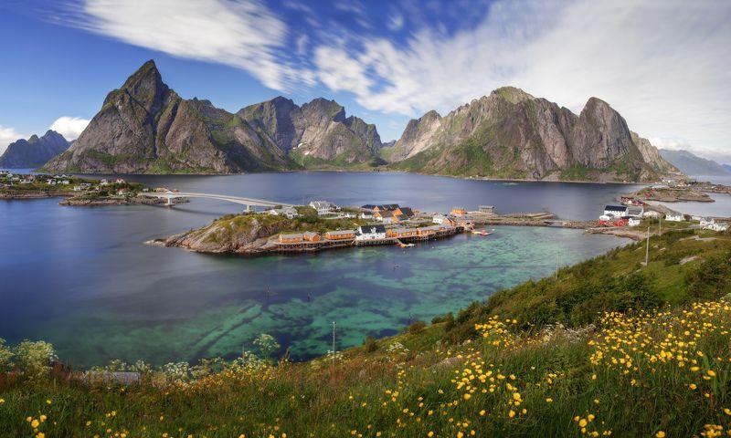 norway, lofoten, норвегия, лофотенские острова Inhabited Islandphoto preview