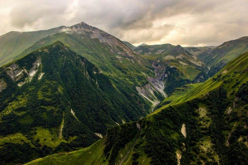кавказ, горы, пейзаж, высота, лето, грузия Горы Кавказаphoto preview