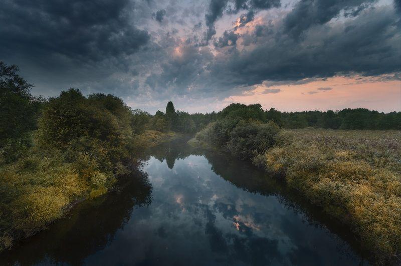 Архангельск, река, рассвет Рассвет на реке Пуя. Архангельская область.photo preview