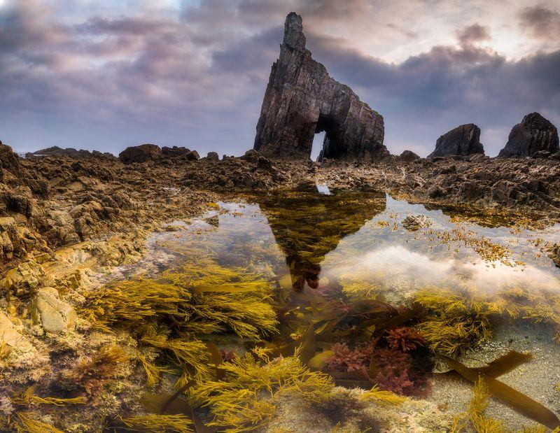 испания, океан, рассвет Playa de Campiecho.photo preview