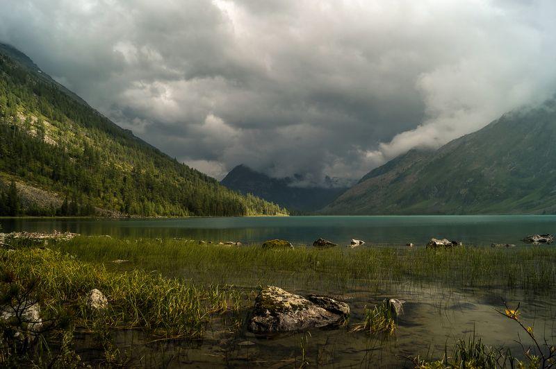 природа лето  алтай озеро мультинское горы пейзаж путешествие Среднее Мультинское озеро...photo preview