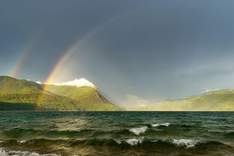 радуга, байкал, озеро, пейзаж, север Байкальская радугаphoto preview