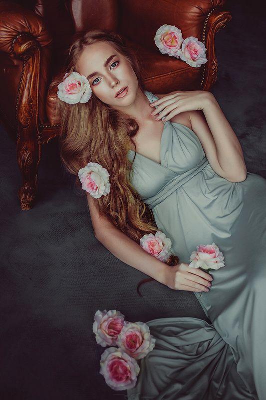 портрет, розы, студия, девушка, people, portrait, Canon Евгенияphoto preview