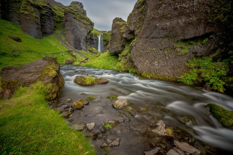 iceland, исландия, водопады исландии, путешествие исландия, kvernufoss, waterfalls of iceland, travel in iceland, icelandic nature And time stood stillphoto preview