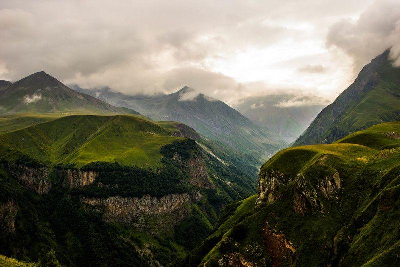 пейзаж, горы, склоны, высота, грузия, кавказ, landscape, nature, лето Кавказские горыphoto preview