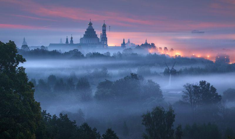 истра, новый иерусалим, монастырь, туман Пробуждение фото превью