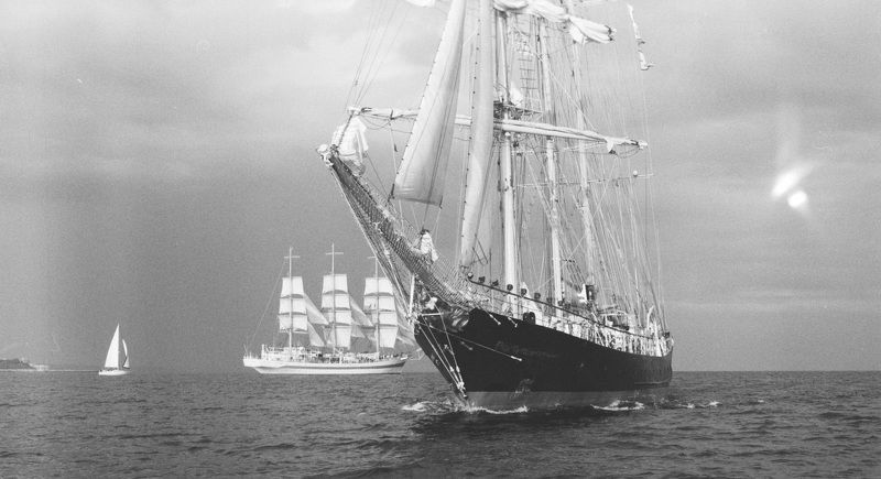 sea, marine, water, seascape, ocean, film, fuji, medium, format, 6x6, black, &, white, b&w Tall Ships Regatta 2016photo preview