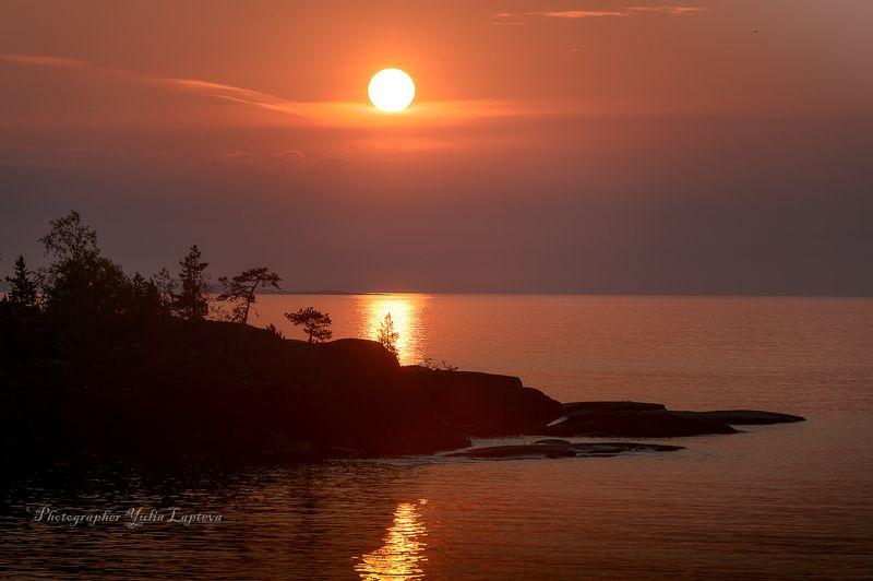 путешествие,пейзаж,ладога,карелия,утро,рассвет,камни,красота.россия Всходило солнце над островами...photo preview
