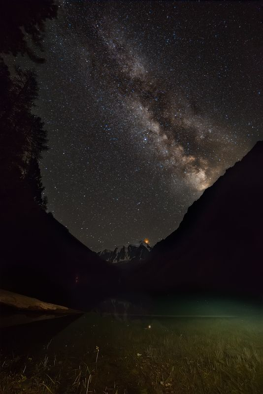 астрофото, фото космоса, ночное фото, ночной пейзаж, горный алтай, астрофотография ЗЕМНОЕ И НЕБЕСНОЕphoto preview
