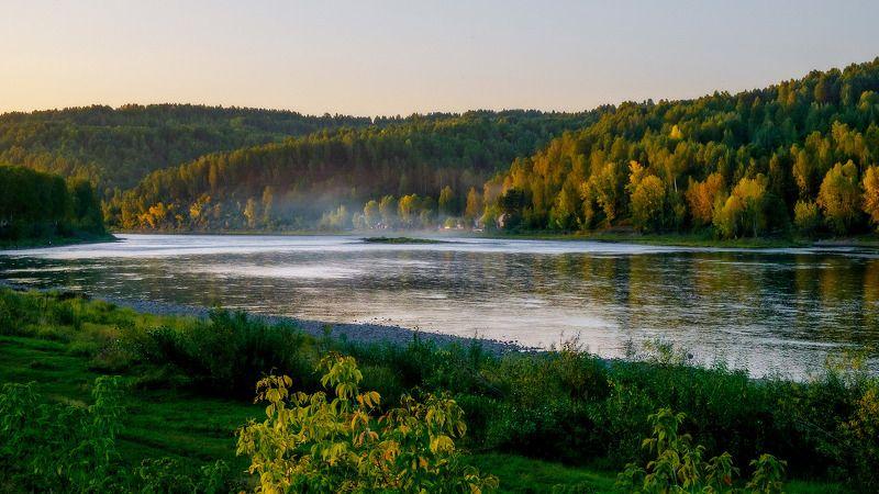 пейзаж, река, закат  Вот и осень! photo preview