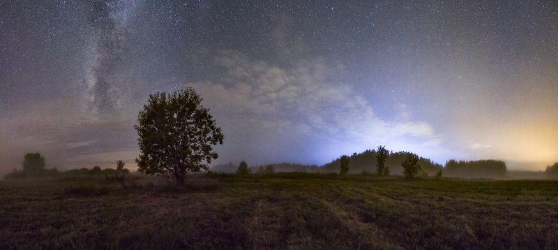 урал, пермский край, млечный путь В туманеphoto preview
